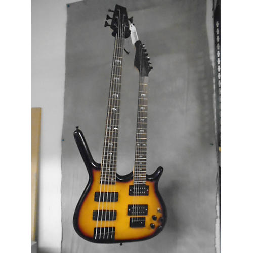 In Store Used Used Parts Guitar DOUBLE NECK TWO TONE SUNBURST Solid Body Electric Guitar-thumbnail