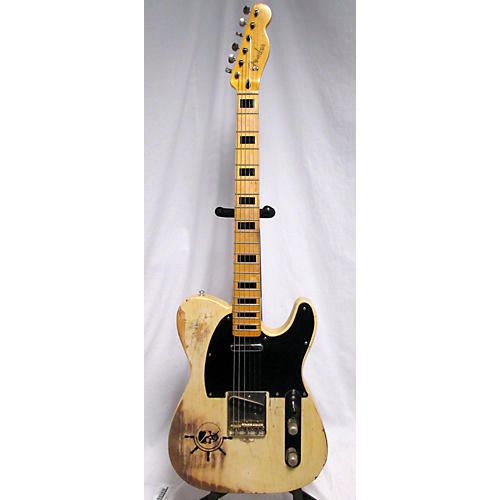 used partscaster telecaster relic white solid body electric guitar guitar center. Black Bedroom Furniture Sets. Home Design Ideas
