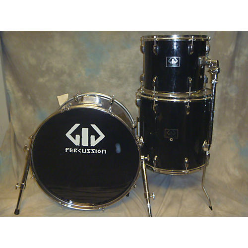 In Store Used Used Percussion 3 piece 3 PC Shell Back Black Drum Kit