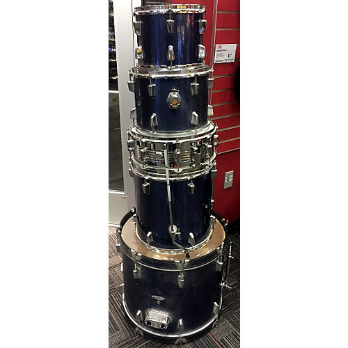 In Store Used Used Percussion 5 piece Plus Metallic Blue Drum Kit