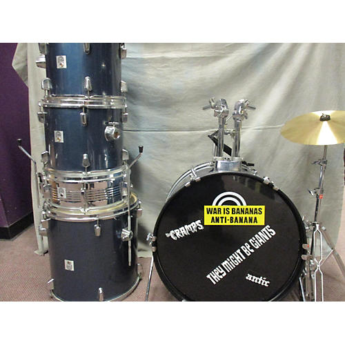 In Store Used Used Percussion Plus 2000s 5 piece Drumset Blue Drum Kit