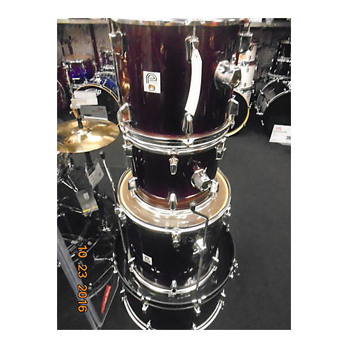 In Store Used Used Percussion Plus 4 piece 4 Peice Wine Red Drum Kit