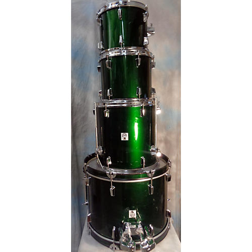 In Store Used Used Percussion Plus 4 piece Unknown Green Drum Kit-thumbnail