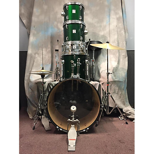 In Store Used Used Percussion Plus 5 piece Beginner Green Drum Kit