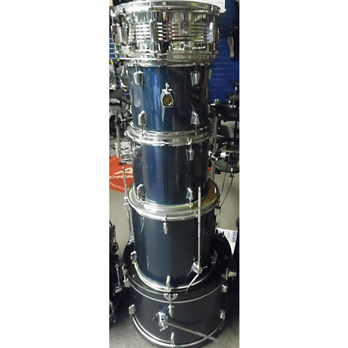 In Store Used Used Percussion Plus 5 piece Drum Set Navy Blue Drum Kit