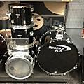 In Store Used Used Percussion Plus 5 piece Drumset Black Drum Kit thumbnail