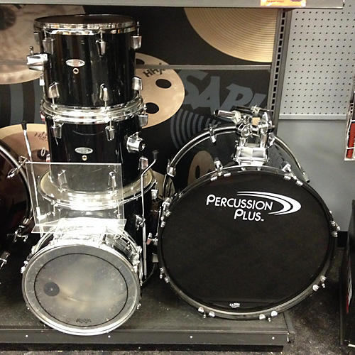 In Store Used Used Percussion Plus 5 piece Drumset Black Drum Kit