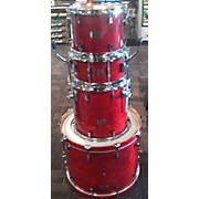Used Pork Pie Little Squealer Cherry 4 piece Little Squealer Cherry Drum Kit