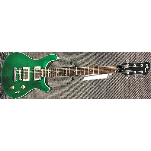 In Store Used Used RJP Technologies Double Cutaway Green Solid Body Electric Guitar