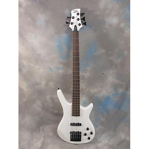 In Store Used Used ROCKLIN TROP White Electric Bass Guitar