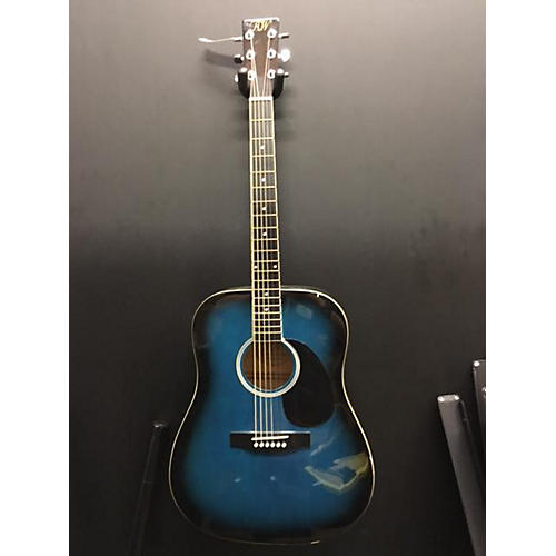 In Store Used Used Richwood Instruments RW25BUS Blue Sunburst Acoustic Guitar