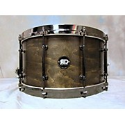 Used Risen Drums 8X14 Maple Snare Trans Black Drum