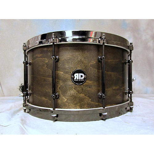 In Store Used Used Risen Drums 8X14 Maple Snare Trans Black Drum-thumbnail