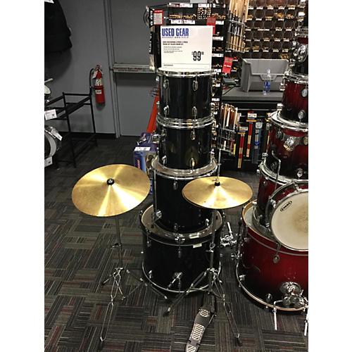 In Store Used Used Rockwood 4 piece 4 Piece Drum Set Black Drum Kit