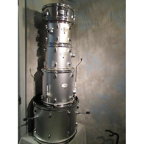 In Store Used Used Rockwood 5 piece By Hohner Silver Drum Kit-thumbnail