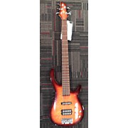Used Rouge 5 String Orange Burst Electric Bass Guitar