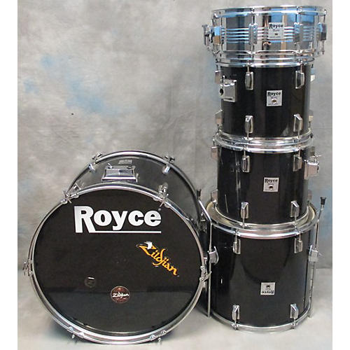 In Store Used Used Royce 5 piece Pro Custom Black Drum Kit-thumbnail