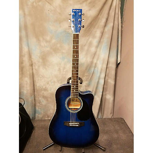 In Store Used Used Rw Jameson Acoustic Electic Blue Acoustic Electric Guitar