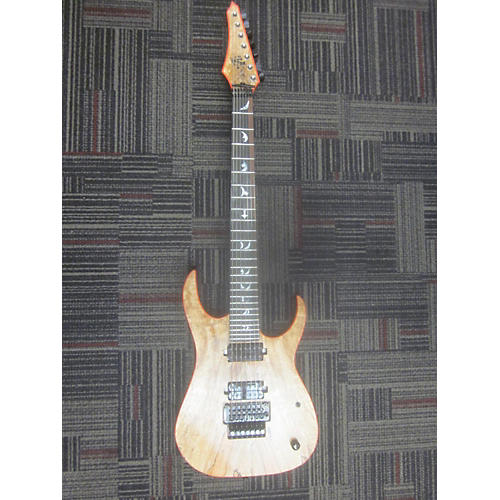 In Store Used Used S7G SOLAR 7 CST Spalted Maple Solid Body Electric Guitar-thumbnail