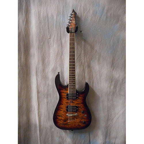 In Store Used Used SHINE DOUBLE CUTAWAY Trans Brown Solid Body Electric Guitar-thumbnail