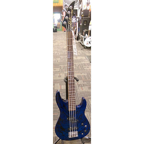 In Store Used Used SLB By Aria Pro II CGXB-2 Blue Electric Bass Guitar