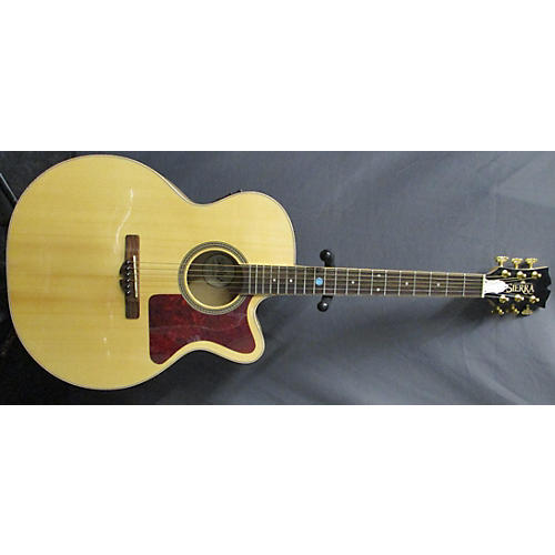 In Store Used Used Sierra SJS98CE Natural Acoustic Electric Guitar