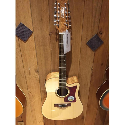 In Store Used Used Sierra SS112ce Natural 12 String Acoustic Electric Guitar-thumbnail