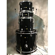 Used Sound Percussion 4 piece Beginner Black Drum Kit