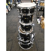 Used Sound Percussion 5 piece Drum Kit Black Drum Kit