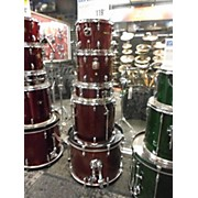 Used Sound Percussion 5 piece Drums Red Drum Kit