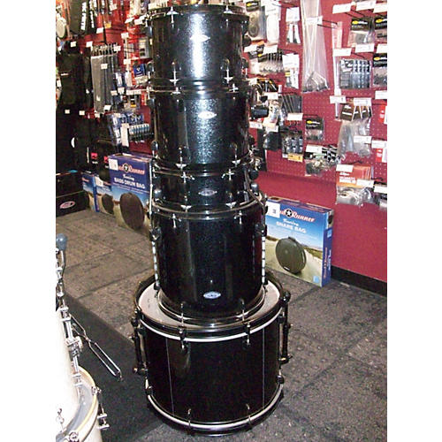 In Store Used Used Sound Percussion 5 piece Pro Plus Black Sparkle W/ Black Hardware Drum Kit-thumbnail