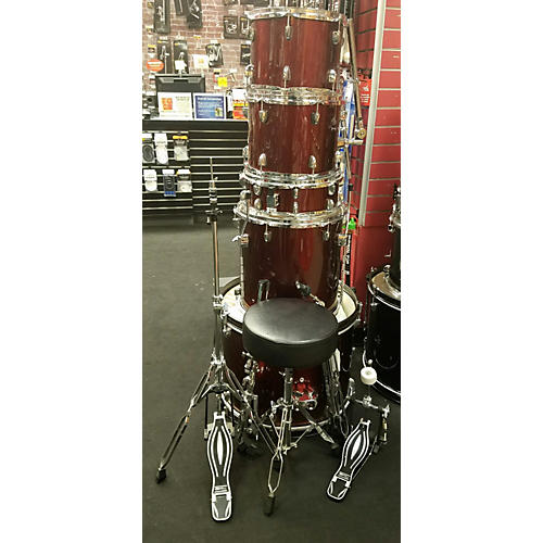 In Store Used Used Sound Percussion 5 piece SP5A1WR Wine Red Drum Kit-thumbnail