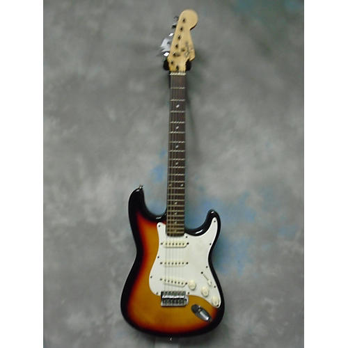 In Store Used Used Squier By Fender Stratocaster Brown Sunburst Solid Body Electric Guitar