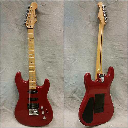 In Store Used Used Squier II 1989 HSS Stratocaster Contemporary MIK Red Solid Body Electric Guitar
