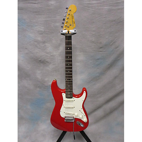 In Store Used Used Squier II 1992 Stratocaster Torino Red Solid Body Electric Guitar-thumbnail
