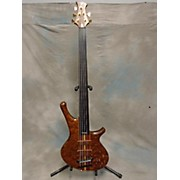 Used Stambaugh Custom Fretless Thuya Burl Electric Bass Guitar
