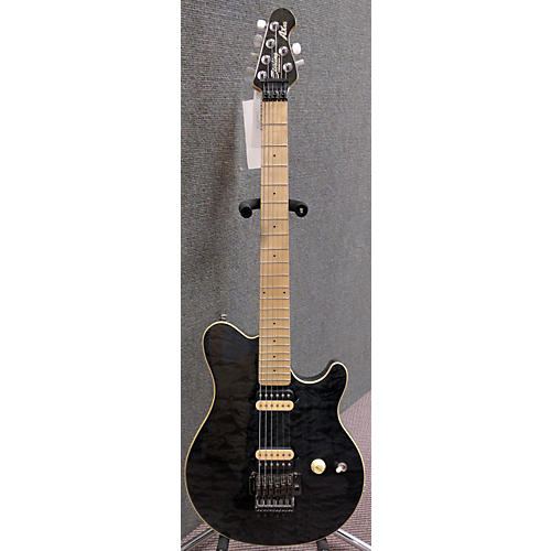 In Store Used Used Sterling AX40D Trans Black Solid Body Electric Guitar
