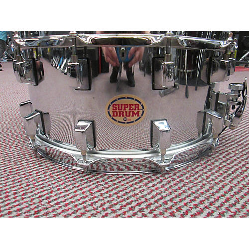 In Store Used Used SuperDrum 12 6.5X14 12 Lug Snare Drum Chrome-thumbnail
