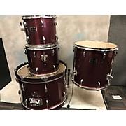 Used Supreme 4 piece Drumset Purple Drum Kit