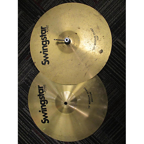 In Store Used Used Swingstar 14in Medium Hi Hats Cymbal-thumbnail