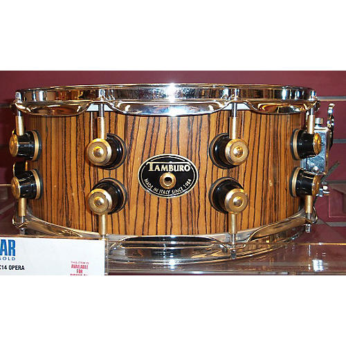 In Store Used Used Tamburo 5.5X14 Opera Zebrawood Drum-thumbnail