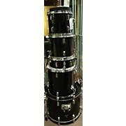 Used Tj Percussion 5 piece Tj Black Drum Kit
