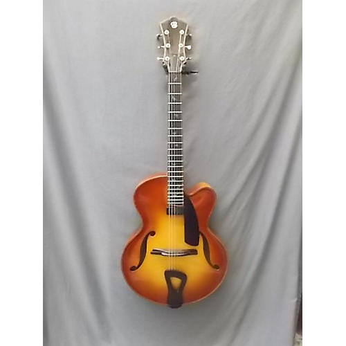 In Store Used Used Tom Bills 2003 Natura Deluxe Violin Burst Hollow Body Electric Guitar-thumbnail