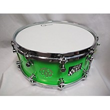 Used Trick Drums 6X14 Flave Vent Snare Drum Neon Green