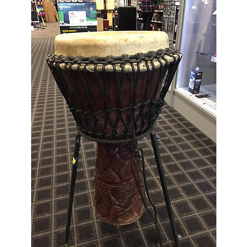 In Store Used Used UNKNOWN 12.5in MALI WEAVE Djembe-thumbnail