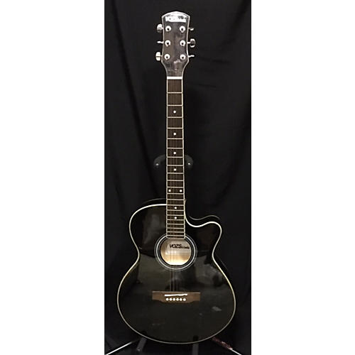 In Store Used Used Vosz&audio Concert Black Acoustic Electric Guitar-thumbnail