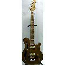 Used Windsong EVH 3x3 Aztec Gold Hollow Body Electric Guitar