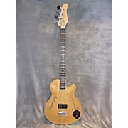 Used Wish Double Cut Hollowbody Natural Electric Bass Guitar