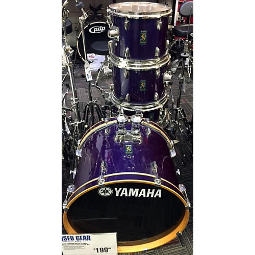 In Store Used Used Yamaha Drums 5 piece Rydeen Dark Purple Drum Kit