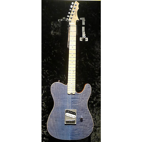 In Store Used Used ZANE PRODIGY CUSTOM TRANS BLUE JEANS Solid Body Electric Guitar-thumbnail